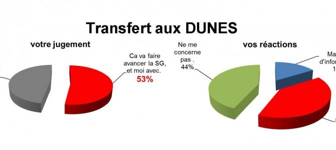 Vos réponses sur le transfert  « Digital Vert » devenu les Dunes.