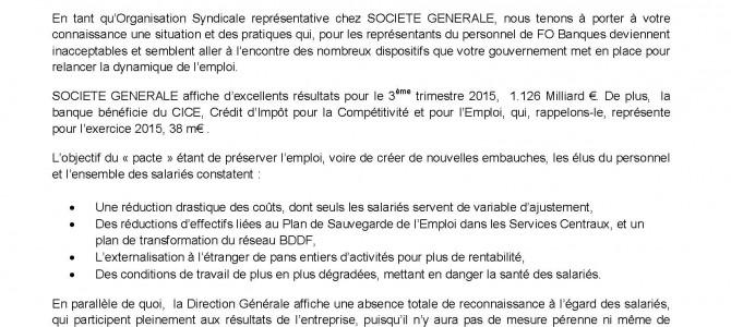 Négociations salariales,  La lettre au ministre Emmanuel Macron