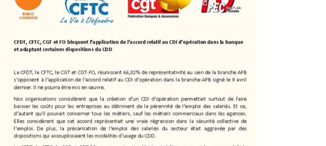 FO et la CGT-CFDT-CFTC neutralisent la signature du seul SNB concernant les CDI Kleenex