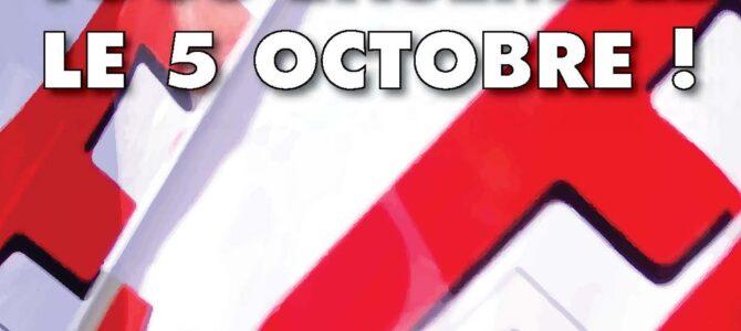 Se faire entendre le 5 octobre !